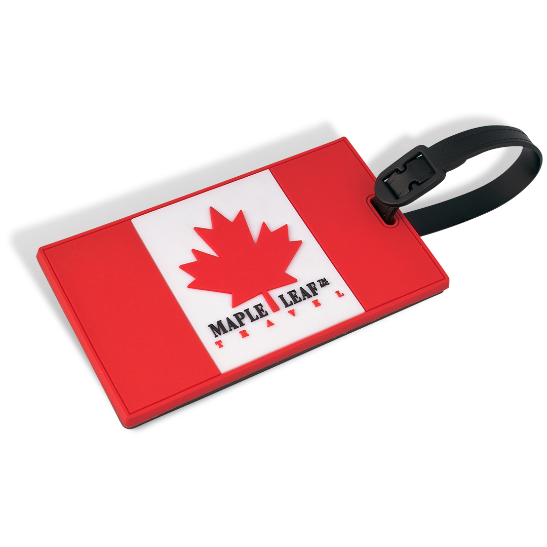 Canadian Flag Poster Luggage Tag With Security Id Maple